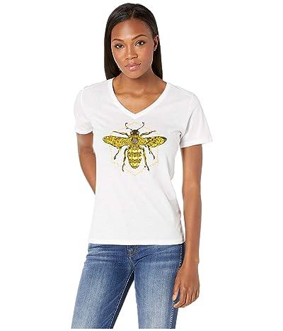 Life is Good Primal Bee Cool Vee (Cloud White) Women