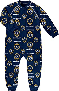 MLS by Outerstuff Toddler Sleepwear Zip Up Coverall, Dark Navy, 2T, Los Angeles Galaxy