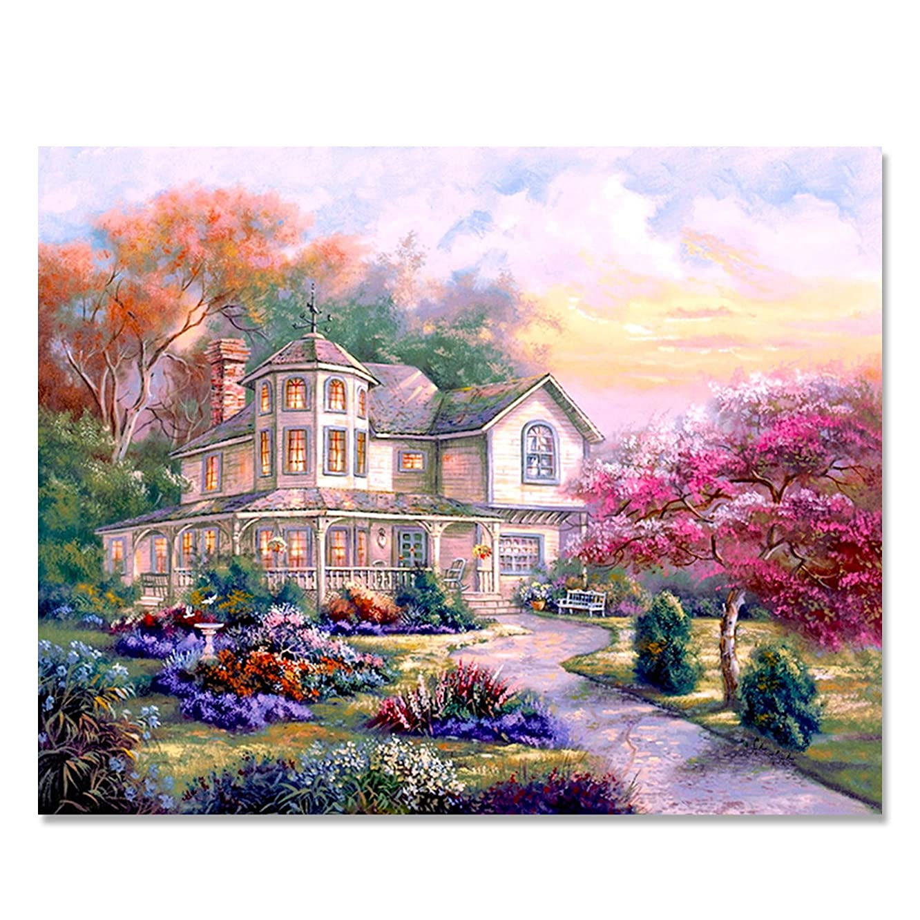 SuperDecor DIY Oil Paint by Numbers Kit for Adults Beginner Kids - DIY Oil Painting 16x20 Inch House