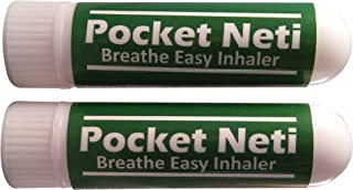 Pocket Neti Breathe Easy Himalayan Salt Aromatherapy Inhaler 2 Pack with Essential Oils.