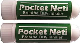 Pocket Neti Breathe Easy Himalayan Salt Aromatherapy Inhaler 2 Pack with Essential Oils.
