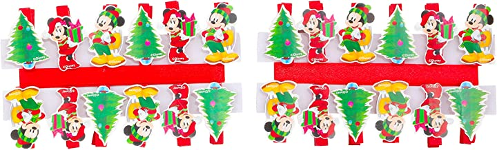 Assortite Pacco da 18 Christmas Shop Taglia Unica Mollettine Natalizie