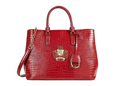 LAUREN Ralph Lauren Marcy Satchel (Red) Handbags
