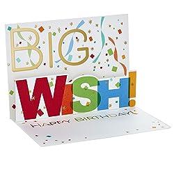 Hallmark Paper Wonder Pack of Birthday Pop Up Cards, Big Wish (8 Cards with Envelopes)