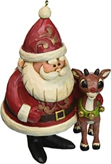 "Jim Shore ""Rudolph the Red-Nosed Reindeer"" Traditions, 50th Anniversary Stone Resin Ornament, 4.25"