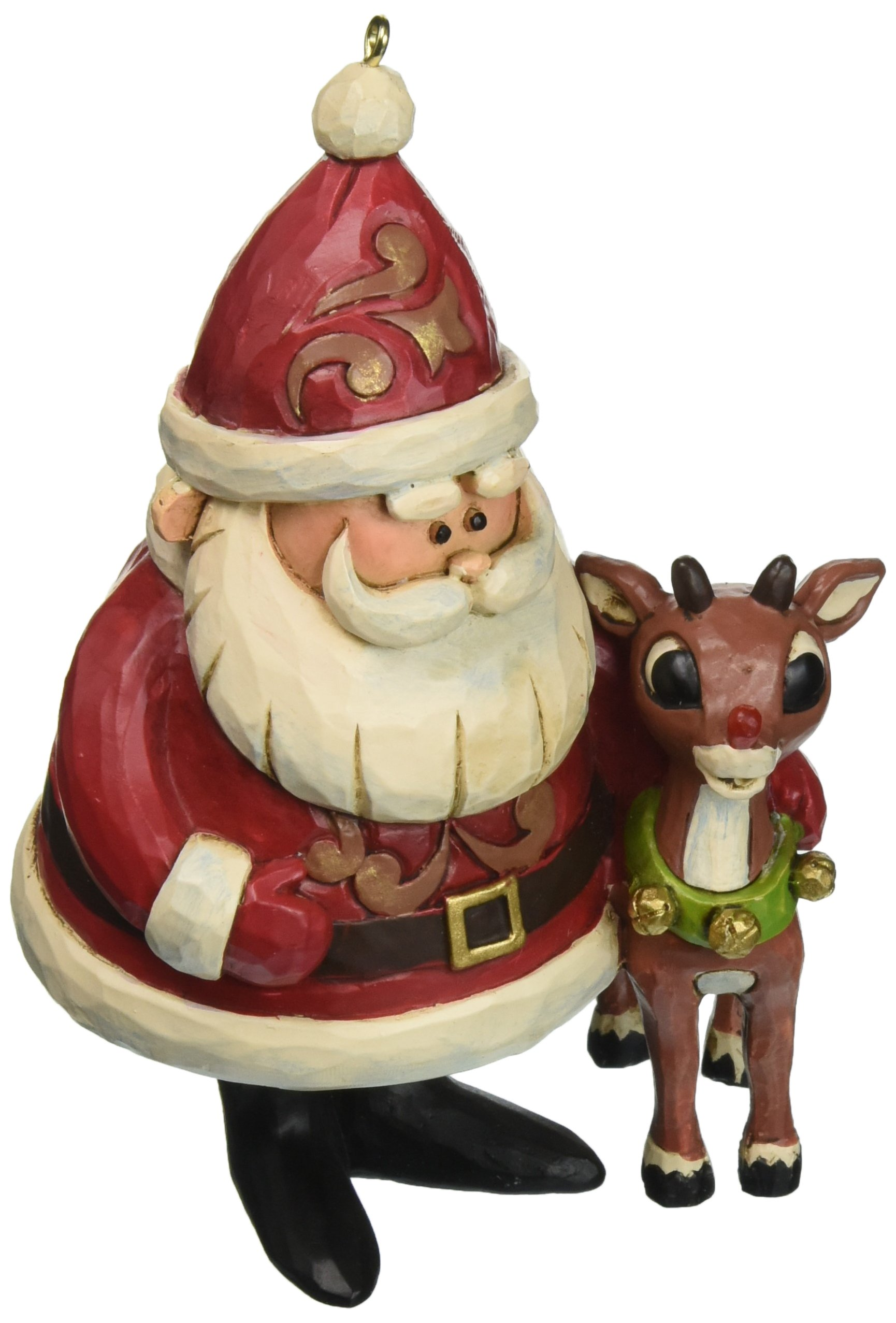 Image of Light Up Jim Shore Rudolph the Red-Nosed Reindeer Ornament