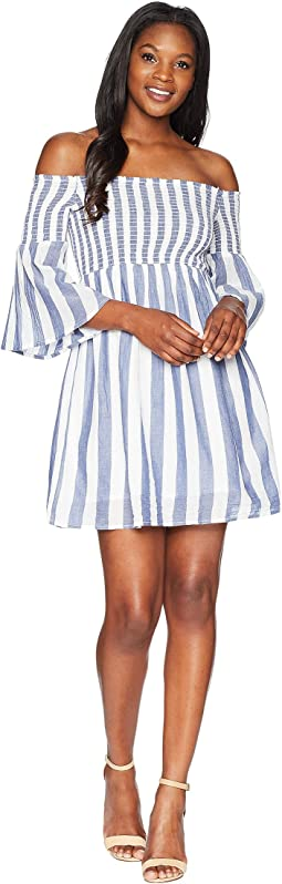 Lucky Brand Striped Smocked Dress