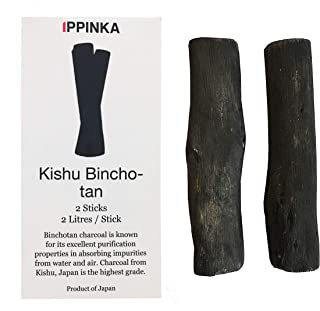 Kishu Binchotan Charcoal Sticks, 2 Sticks, 1 Stick Filters Up 2 Litres of Water