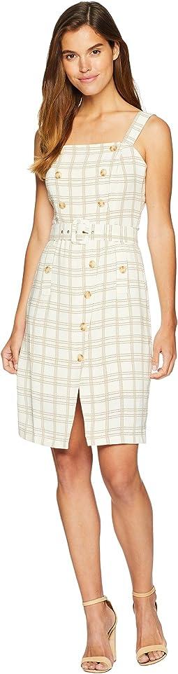 Button Detail Sleeveless Dress