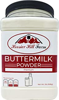 Hoosier Hill Farm Buttermilk Powder, 2 Lbs. Gluten Free & Hormone Free. Made In USA