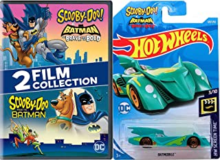 The Dynamic Duo Batman Scooby-Doo Mystery Gang Inc. Solving Crew Scooby-Doo Meets Batman Cartoon DVD animated pack & Brave and the Bold Batmobile Hot Wheels Car