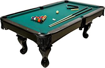 Harvil 84-Inches Black Billiard Pool Table with Complete Pool Table Accessories, Green Felt