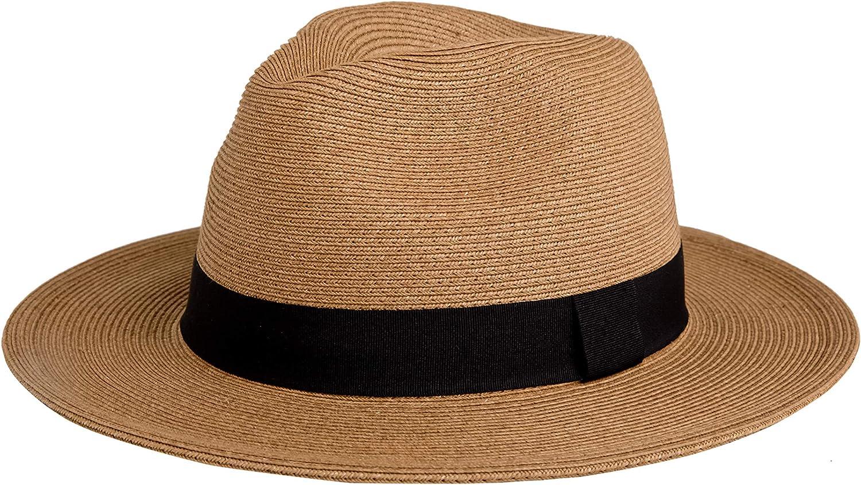 PineappleStar Sun Straw Fedora Beach for Fine Braid Hat UPF50+ Las Vegas Ultra-Cheap Deals Mall