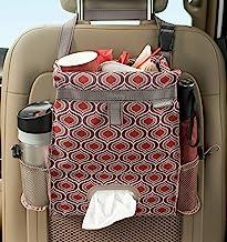 High Road Puff'nStuff Car Trash Bag and Seat Back Organizer with Tissue Holder (Sahara)