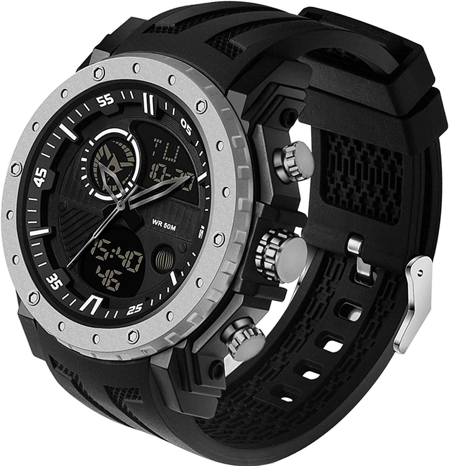 Mens Ranking TOP1 Tactical Sport Watches Super Special SALE held Stopwatch 5ATM Alarm Waterproof LED