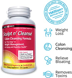 Sculpt n' Cleanse: Colon Cleanse, Detox, Weight Loss & Increased Energy Supplement   Vegan   Non GMO