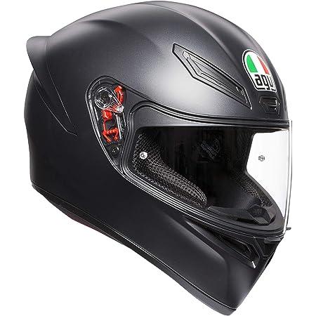 AGV E2205 K1 Solid Casco Moto Integral, Hombre, Negro Mate, XL