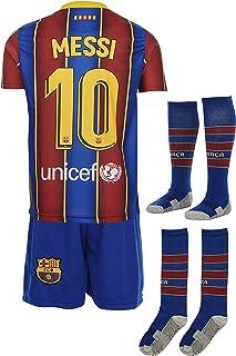 Barca Messi 2020/2021 Heim Trikot und Shorts mit Socken Kind