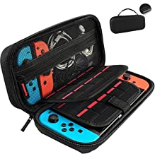 GameFan Switch Carrying Case compatible with Nintendo Switch - 20 Game Cartridges Protective Hard Shell Travel Carrying Ca...