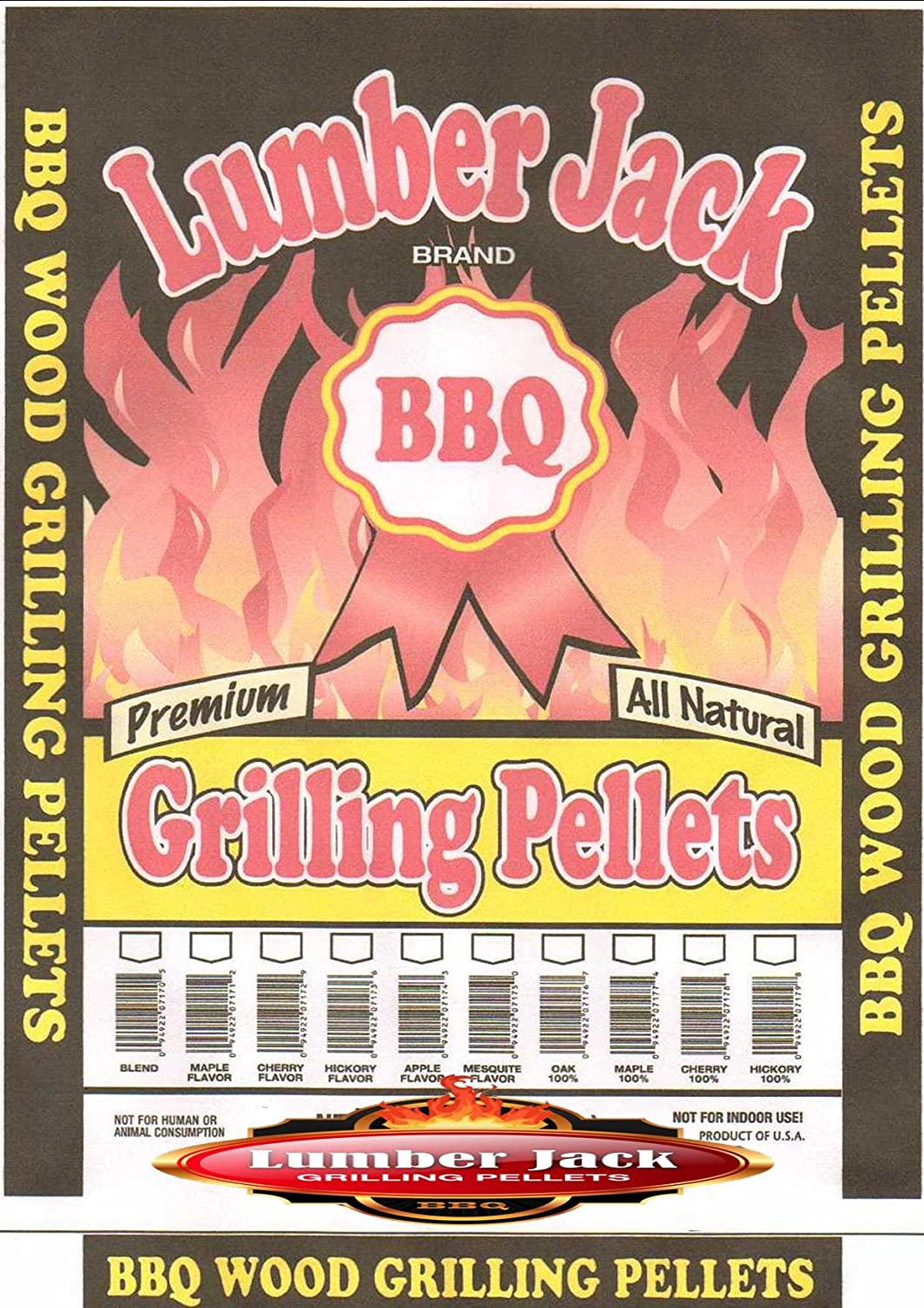 Lumber Jack We OFFer at cheap prices 20-pounds BBQ Grilling Maple-Hickory-C pellets Max 67% OFF Wood