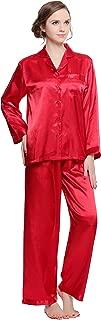 Lavenderi Women's Long Sleeve Premium Satin Pajama Set