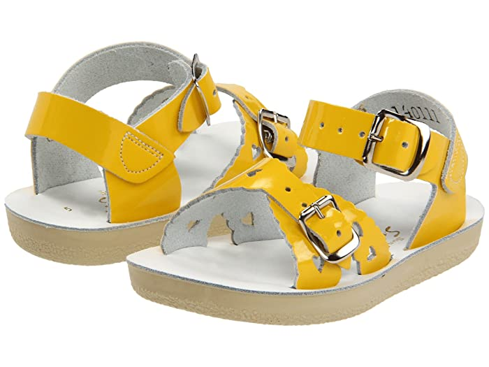 Salt Water Sandal by Hoy Shoes  Sun-San - Sweetheart (Toddler/Little Kid) (Shiny Yellow) Girls Shoes