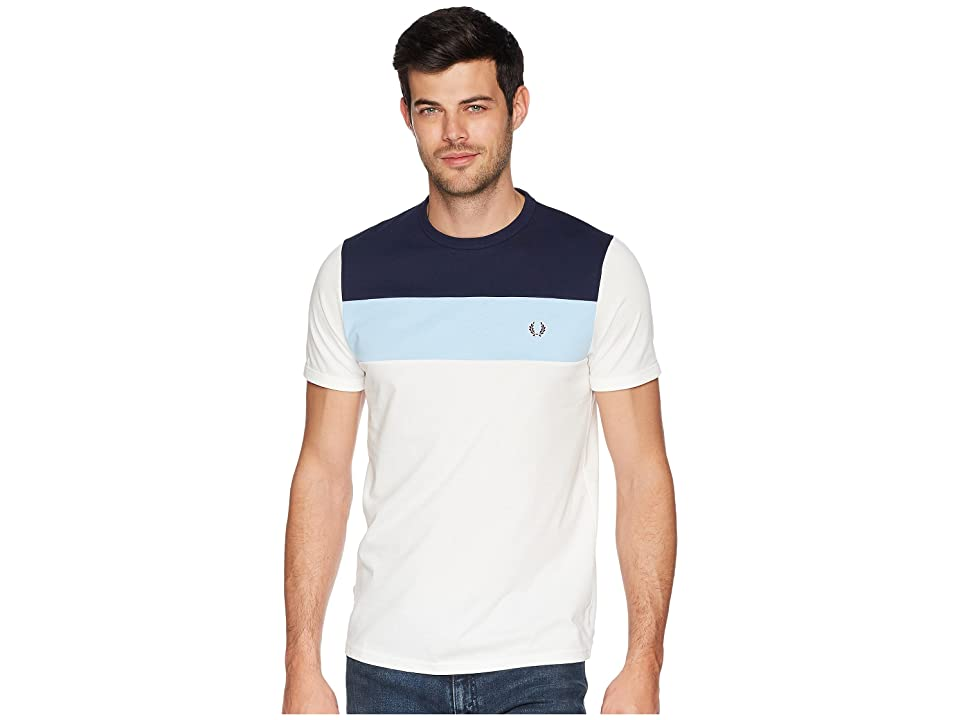 Fred Perry Colour Block Panel T-Shirt (Snow White) Men