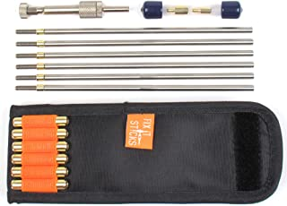 Fix It Sticks Cleaning Rod Kit (Handle, Rods, Obstruction Tips, Case) & 6.5 Adapters and Obstruction Tip Add-On Gun Mainte...