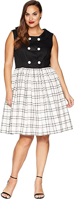 Black/Ivory Plaid