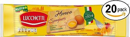 Lucchetti Empaque con 20 Piezas deSpaghetti de Huevo, 200 g,