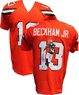 Authentic Odell Beckham Jr Autographed Signed Custom Image Jersey - LEAF COA - Cleveland Browns WR