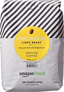 AmazonFresh Just Bright Ground Coffee, Light Roast, 32 Ounce (Pack of 1)