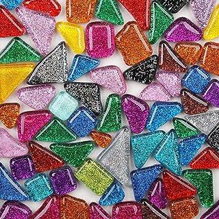 Carreaux de mosaïque en verre de couleurs mélangées - Pièces de verre irrégulières pour décoration de la maison ou loisirs...