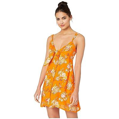 Volcom Try The Knot Dress (Bright Orange) Women