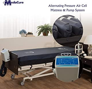 Alternating Pressure Mattress for Hospital Beds with Pump - Low Air Loss, Quilted Nylon Cover - 80