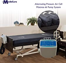 Alternating Pressure Bariatric Mattress for Hospital Beds with Pump - Low Air Loss, Quilted Nylon Cover - Extra Wide 80
