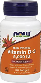 Now Supplements, Vitamin D-3 5000 IU, 120 Softgels