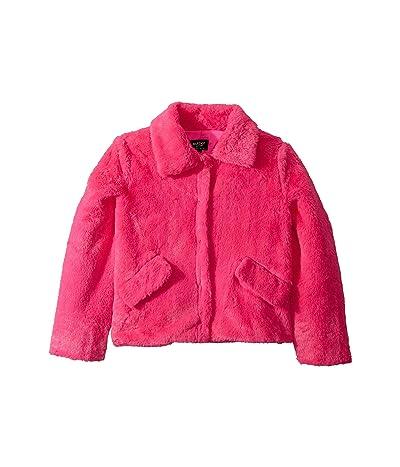 Bardot Junior Cole Plush Jacket (Big Kids) (Pink) Girl