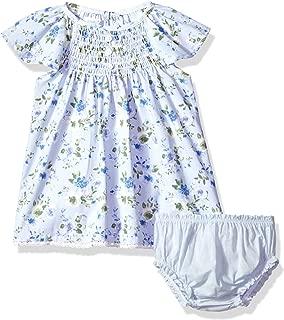 Mud Pie 女婴花朵褶边袖休闲连衣裙带灯笼裤