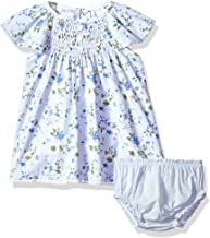 Mud Pie Baby Girls Floral Smocked Flutter Sleeve Casual Dress with Bloomers