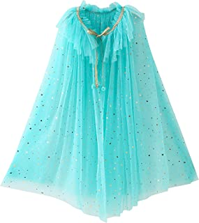 Soyoekbt Princess Cape Cloaks for Girls Toddler Birthday Party Costumes Dress Up Age 3-12 Year Kids