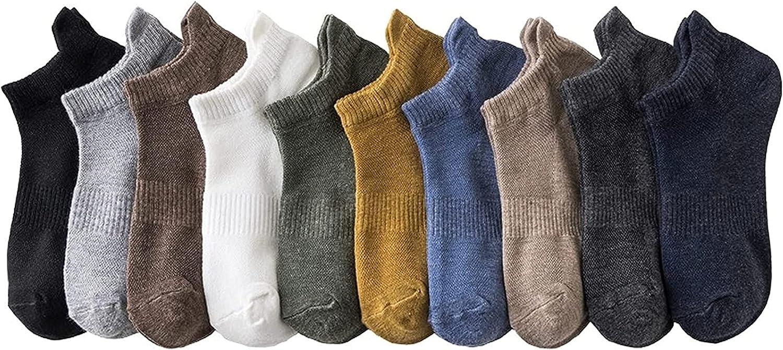 10 Pack Jacksonville Mall Men Compression Cotton Summer No Socks OFFer Show Size 6-10