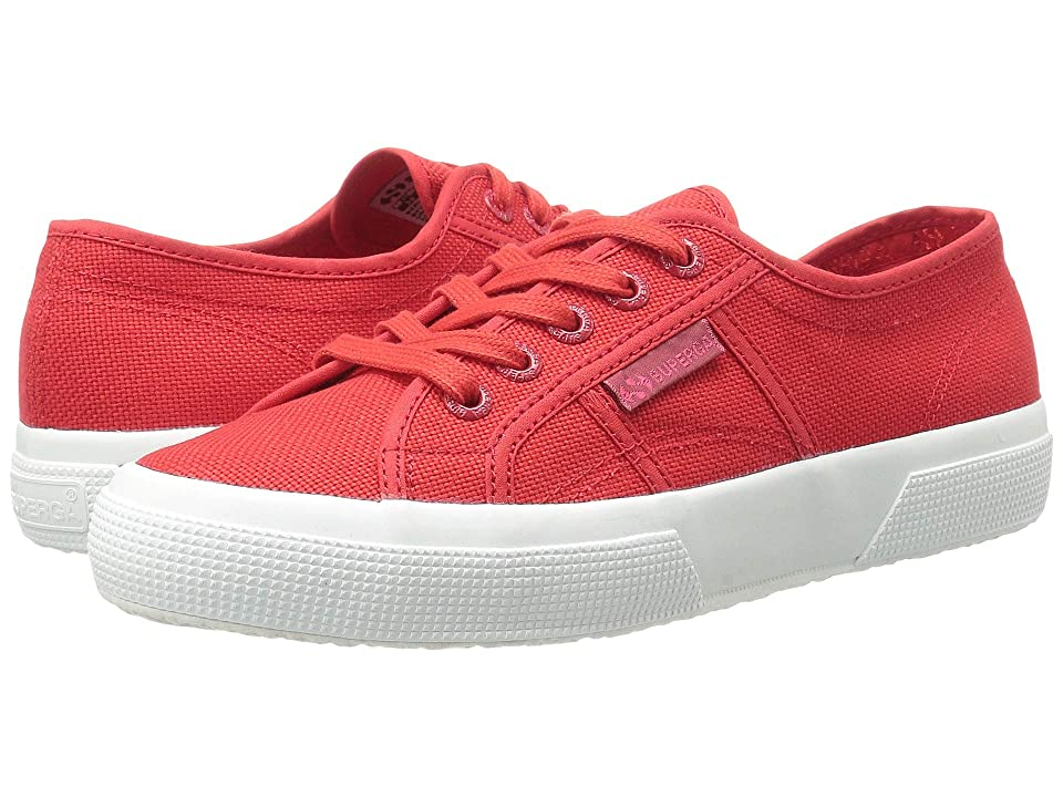 Superga 2750 Cotu (Red/Full White) Athletic Shoes