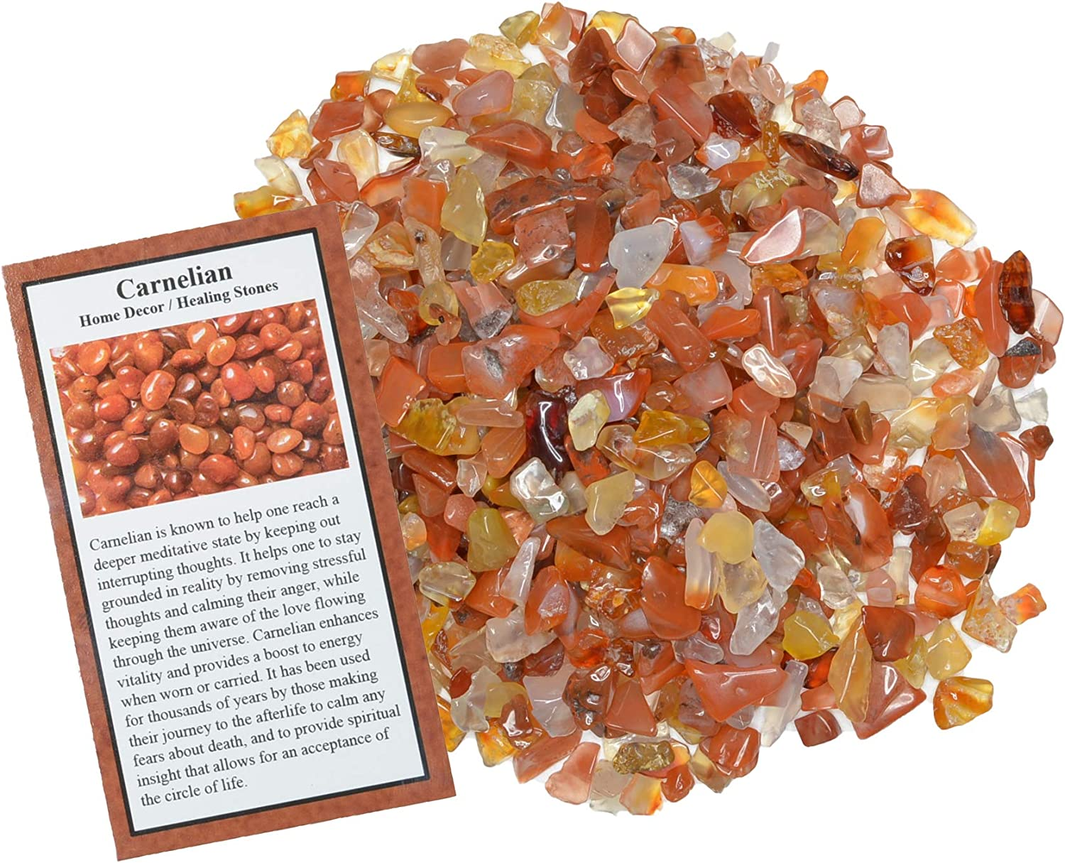Digging Dolls: 3 lbs of Tumbled Chip - Max 53% OFF Polished Fort Worth Mall Carnelian Stones