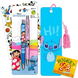 Disney Lilo and Stitch Bookmark and Pen Set -- Premium Lilo and Stitch Bookmark and 2 Lilo and Stitch Gel Pens with Bonus Mickey Mouse Stickers (Lilo and Stitch Office Supplies)
