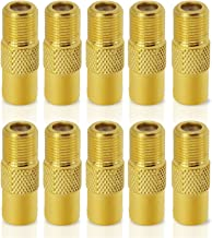 ESUMIC TV PAL Male Plug to F Female M/F Coaxial Coax RF Adapter Connectors Gold 10Pack
