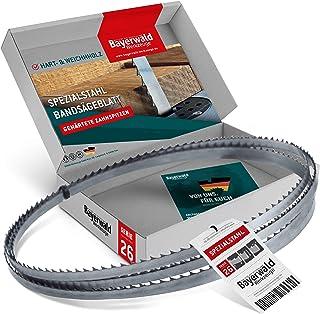 Bayerwald specialstål härdade tandspetsar bandsågblad – 2115 x 8 x 0,5 x 6, för alla vanliga trätyper/sågband lämplig för ...