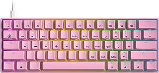 GK61 Mechanical Gaming Keyboard - 61 Keys Multi Color RGB Illuminated LED Backlit Wired...