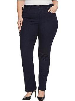 NYDJ Womens Plus-Size Isabella Trouser Jeans