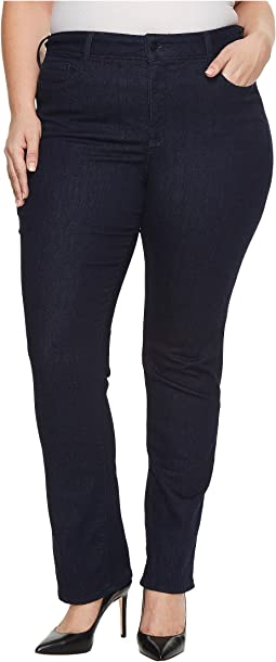 Plus Size Marilyn Straight Jeans in Rinse
